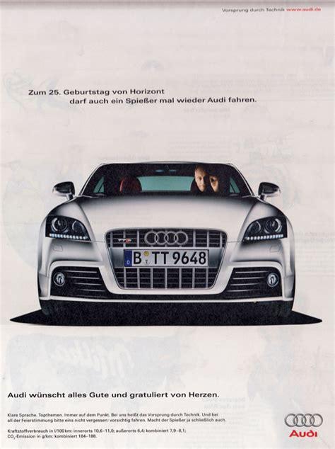 Audi Ahrensburg by Horch Was Audi In Der Werbung F 252 R Vw Sich Gibt