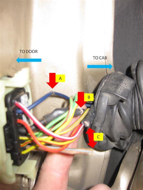 wj driver door boot wiring fix diy jeepforumcom