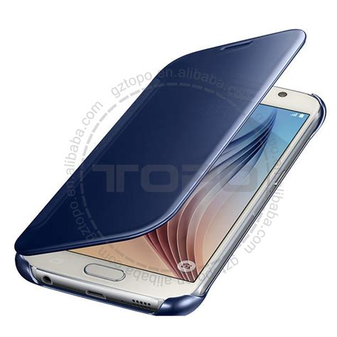 Samsung A310 2016 Mirror Cover Flip For Samsung Galaxy S7 Flat 47 2017 electroplating mirror flip mobile cell phone cover