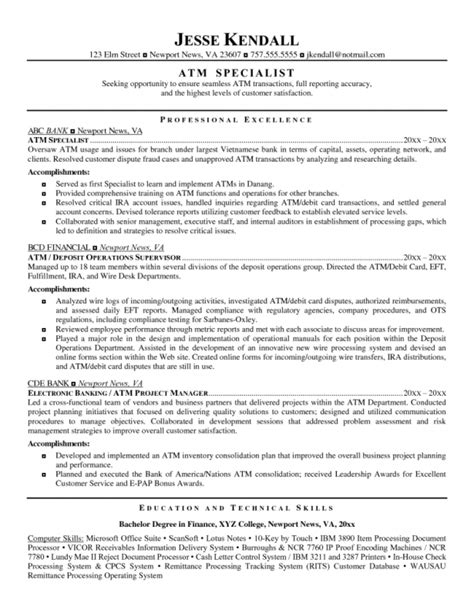 finance manager resume sle sle of finance resume 28 images best sales