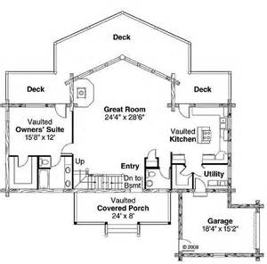 2 Bedroom 2 Bathroom House Plans Plan 035 00427 2 Bedroom 2 5 Bath Log Home Plan