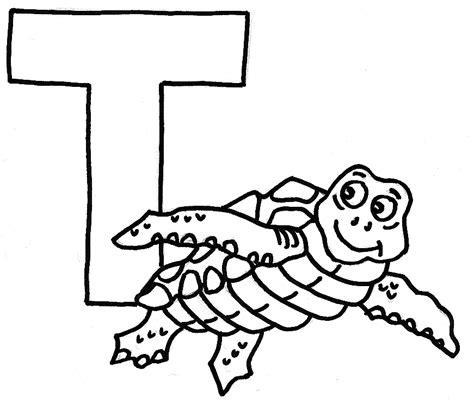 coloriage de alphabet t