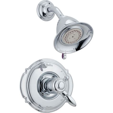 Delta Shower Faucet With Temperature by Delta Dual Temp Volume Chrome Shower
