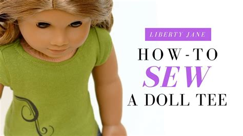 How To Make American Doll Stuff Out Of Paper - how to sew a doll t shirt for your 18 inch american