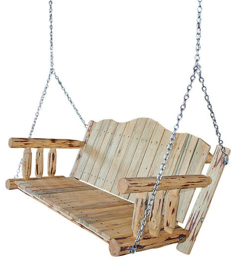 how to hang a porch swing with chain montana woodworks swing seat with chains in ready to
