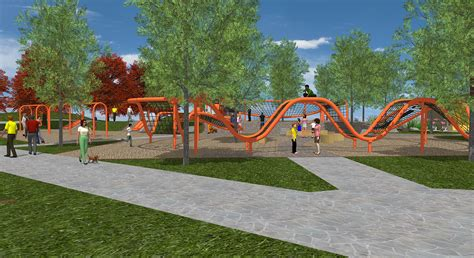 Backyard Ideas For Kids The Eastmark Great Park S Newest Addition The Orange Monster