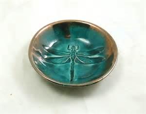 Handmade Bowls Pottery - dragonfly bowl handmade ceramic raku pottery by