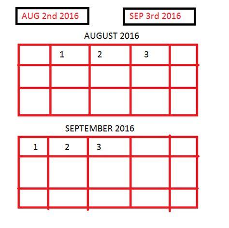 Calendar Between Dates Javascript Show Calendar Between Given Dates Stack