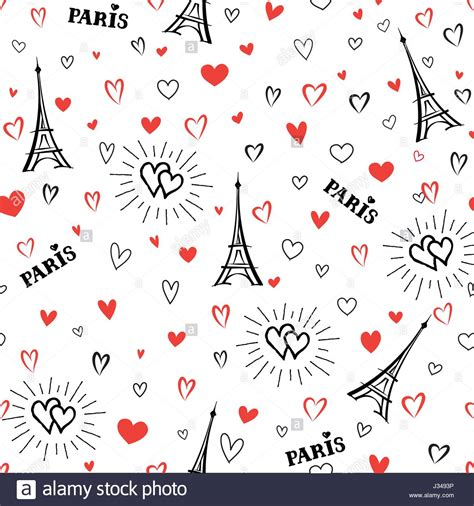 travel pattern in french travel france seamless pattern paris city vacation