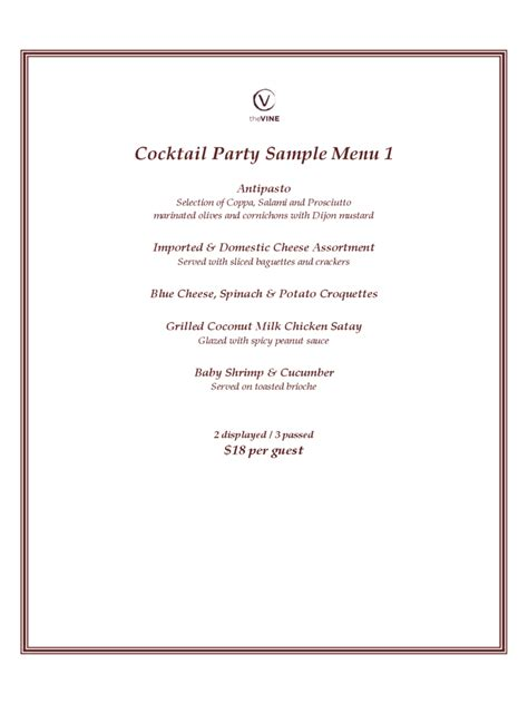 Resume Sample Word File by Cocktail Menu Template 2 Free Templates In Pdf Word