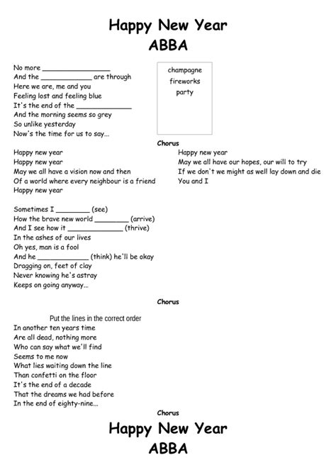new year song child 67 free new year worksheets