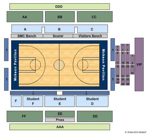 byu tickets seating chart mckeon pavilion basketball