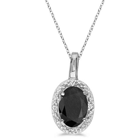 Black Onyx Titanium Pendant Necklace Pendant Choker oval black onyx and pendant necklace 14k white gold 0 47tcw