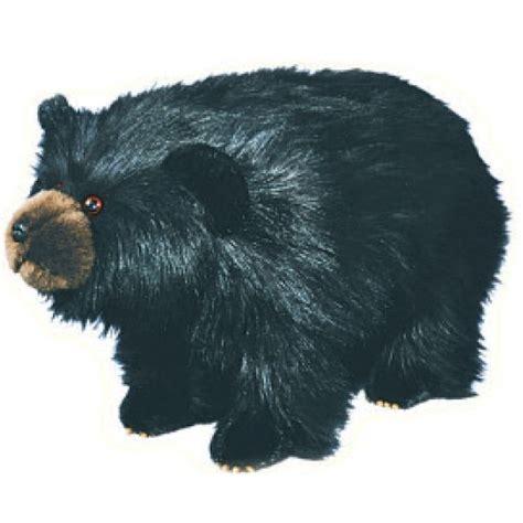 black bear ottoman shaggy black bear footstool