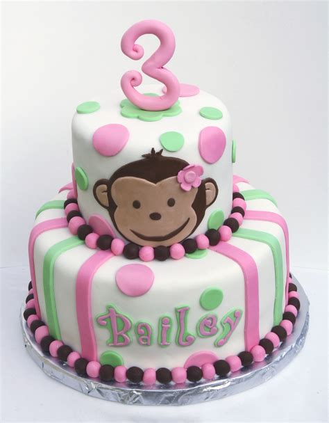 birthday cake monkey cakes decoration ideas little birthday cakes