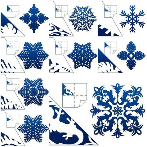 How To Make Paper Snowflakes - how to make schemes of paper snowflakes step by step diy
