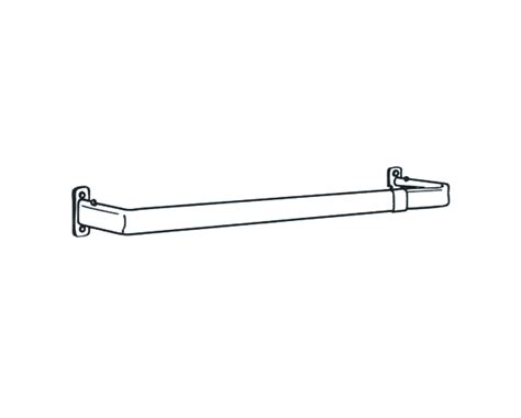 projection curtain rods graber 48 84 inch lock seam single curtain rod 1 1 2 inch