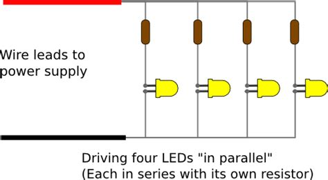 do you add resistors in parallel noob with some circuit questions about lighting leds from a battery