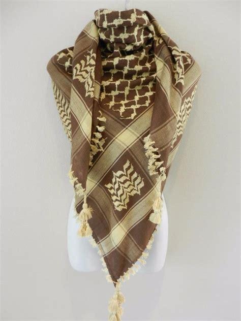 brown keffiyeh shemag arab original authentic quality