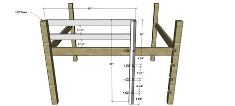 how to build a bunk bed free diy furniture plans how to build a sized low