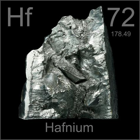 Hf Periodic Table by Heavy 290g Lump A Sle Of The Element Hafnium In The