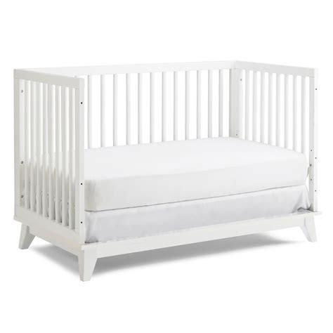 Modern Snow White Convertible Island Crib Modern Convertible Crib