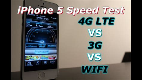 iphone 5 4g lte vs 3g vs wifi