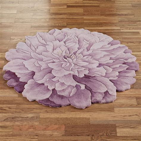 Delia Bloom Flower Shaped Round Rugs Flower Rug