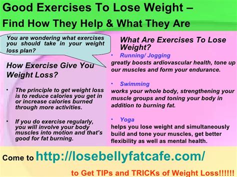 exercises to lose weight find how they help and