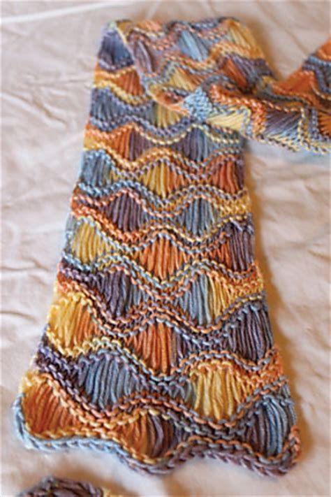 knit scarf pattern variegated yarn multi colored yarn free knitting patterns in the loop