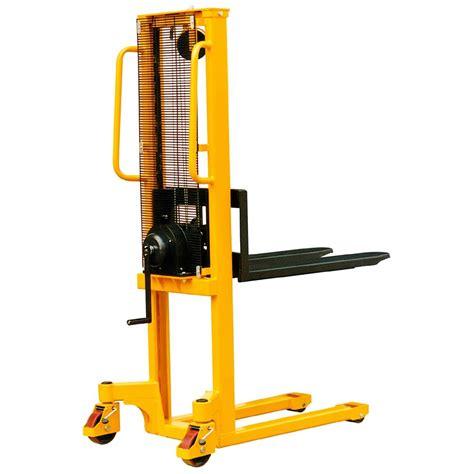 Liftrer Stacker Manual 1000 1 5m 1000kg winch stacker ws100 pallet trucks uk