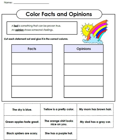 Fact And Opinion Worksheets by Fact And Opinion On Abraham Lincoln Worksheets And Anchor Charts