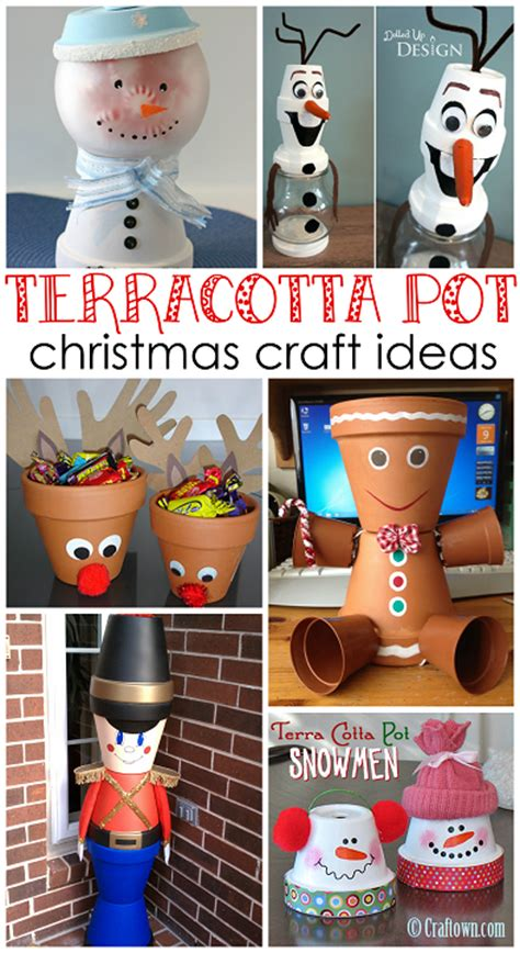 Flower Pots With Faces On Them creative terra cotta pot christmas crafts crafty morning