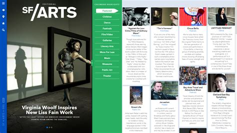 magazine layout design web awesome web design of the week sf arts