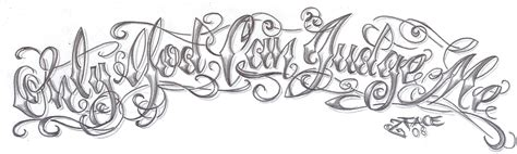 tattoo font design chicano lettering god design by 2face lettering