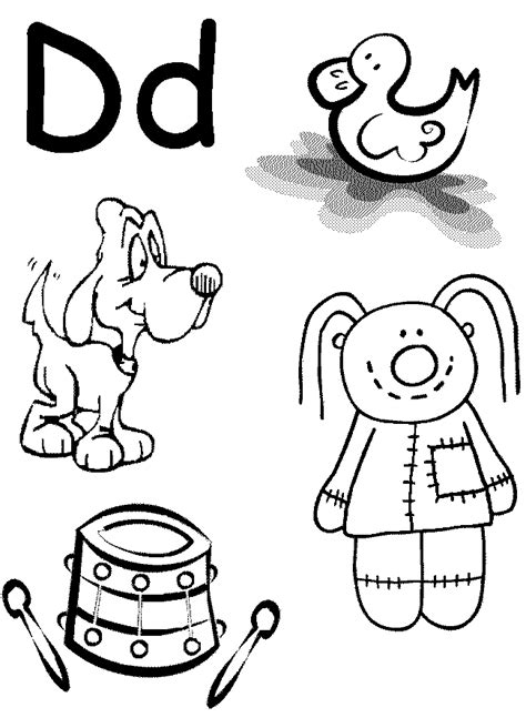 d coloring pages for kindergarten letter a coloring pages for preschoolers coloring home
