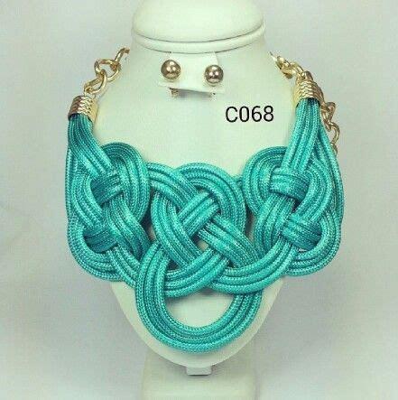 nudos de collares collar de nudos con cadena dorada varios colores