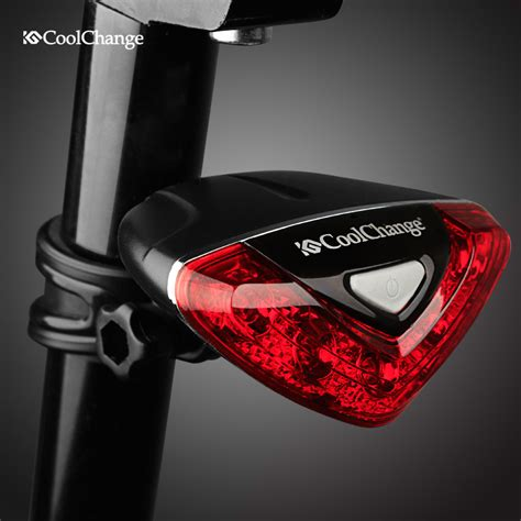 red rear bike light coolchange bicycle rear tail light red led flash lights