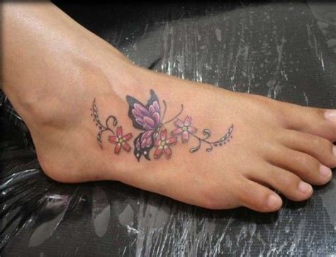 small purple butterfly tattoo purple butterfly and flower on foot for you ideas