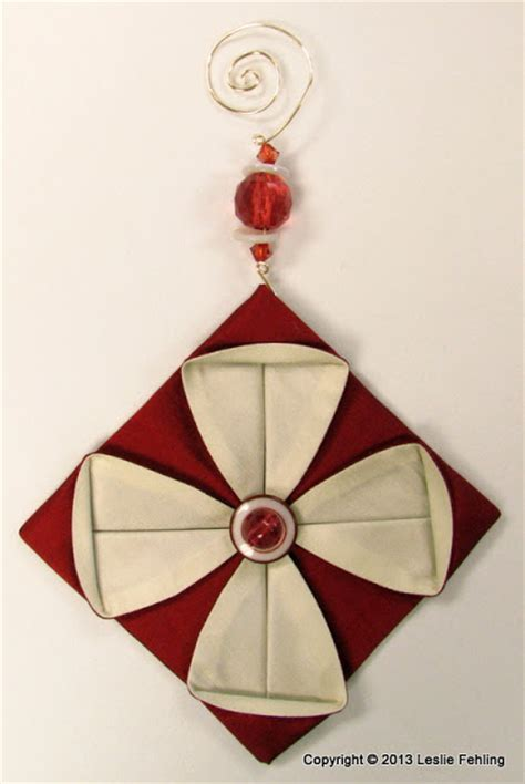 Origami Ornaments Patterns - everyday artist fabric origami the prettiest ornaments