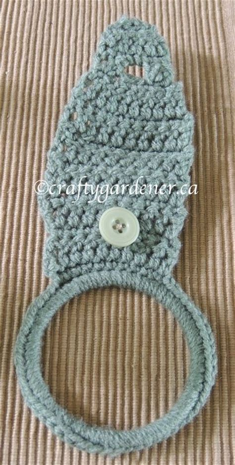 pattern for kitchen towel holder crochet pattern for a towel ring holder from