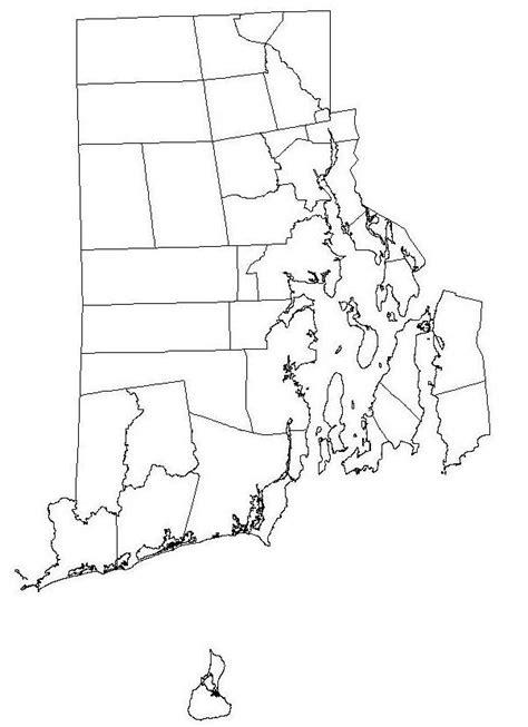 blank map  rhode island  printable blank map