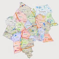 burlington ma hvac service area map