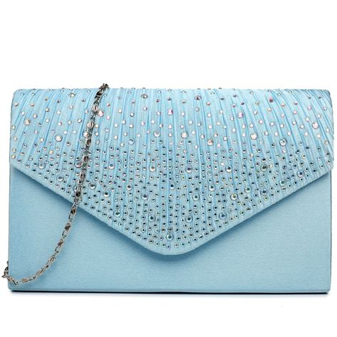 light blue clutch purse ly1682 miss lulu structured diamante studded envelope
