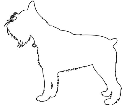 Schnauzer Silhouette Free Vector Silhouettes Schnauzer Coloring Pages
