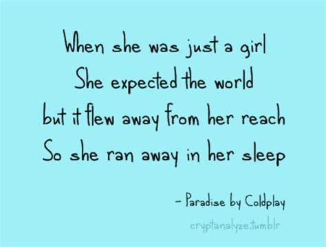 coldplay lyrics paradise coldplay quot paradise quot lyrically ah muse me pinterest