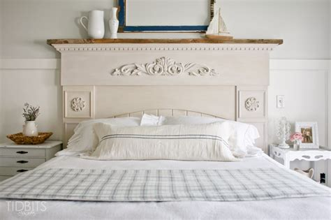 diy mantel headboard eclectic home tour tidbits blog