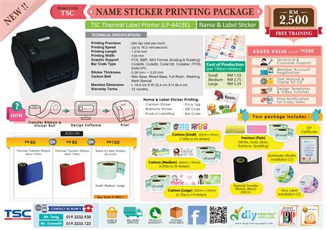 Mesin Printer Sticker Vinyl name label sticker to make your business stand out in style malaysia singapore
