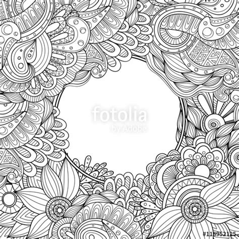 free doodle border vector quot abstract zentangle style vector frame