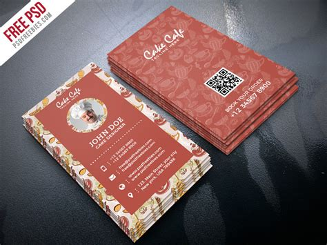 shop business cards templates cake shop business card psd template psdfreebies